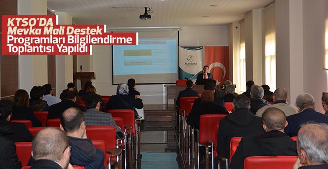 Mevka Mali Destek  Programları Bilgilendirme Toplantısı Yapıldı