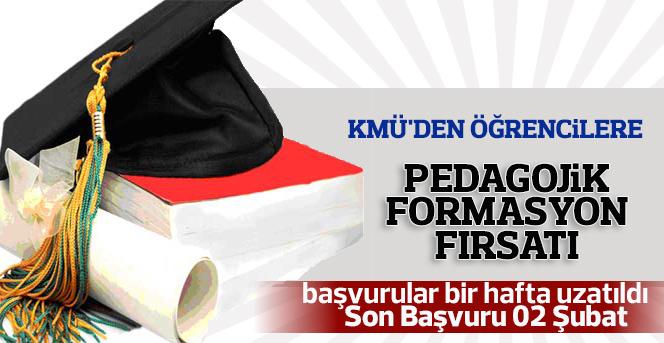 Pedagojik Formasyon Başvuru Süresi Uzatıldı