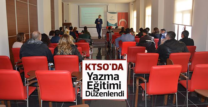 KTSO'da Yazma Eğitimi Düzenlendi
