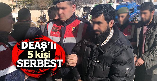 DEAŞ'tan adliyeye çıkarılan 5 kişi serbest kaldı