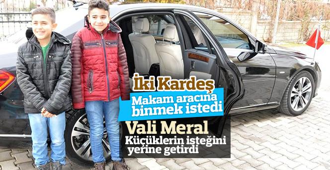 Vali Meral, çocukların isteğini kırmadı