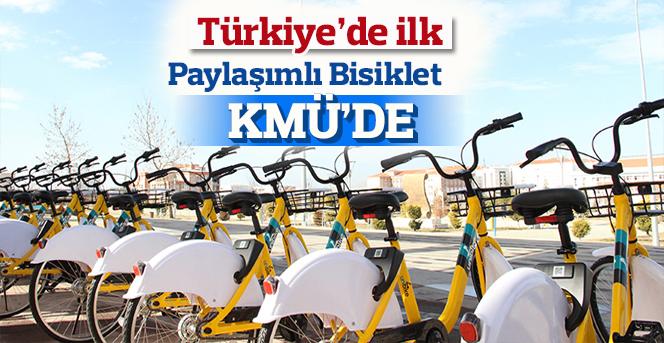 Paylaşımlı Bisiklet Platformu Türkiye'de ilk kez KMÜ'de