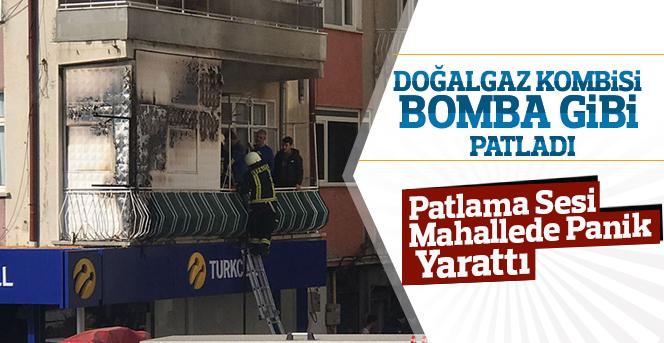 Karaman'da kombi bomba gibi patladı!