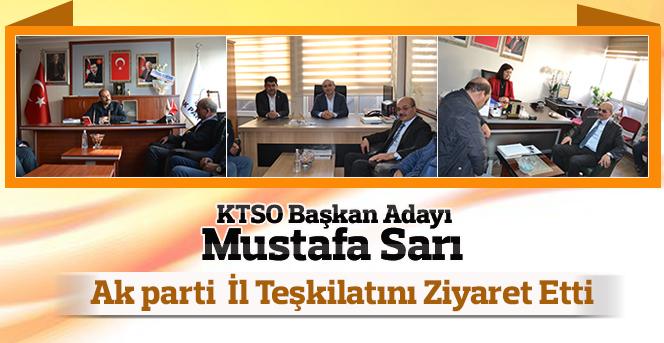 Mustafa Sarı  Ak parti Karaman İl Teşkilatını Ziyaret Etti.