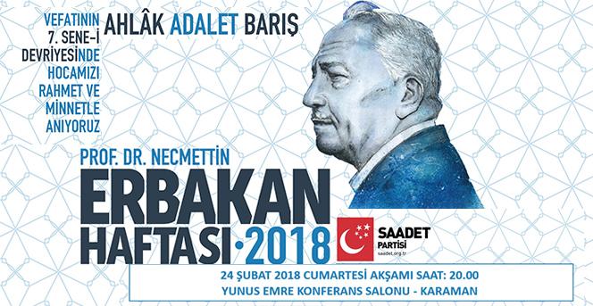 Saadet Partisi Merhum Prof. Dr. Necmettin Erbakan'ı anacak.