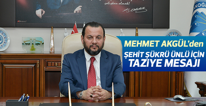 KMÜ Rektörü Akgül'den Şehit Ünlü İçin Taziye Mesajı