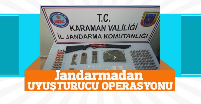 Karamanda Jandarmadan Uyuşturucu Operasyonu