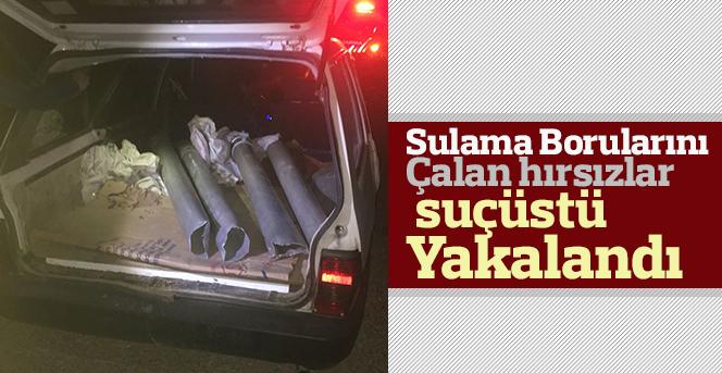Sulama Borusu Hırsızları Yakalandı