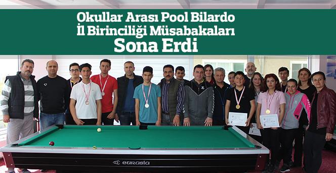 Okullar Arası Pool Bilardo İl Birinciliği Müsabakaları Sona Erdi