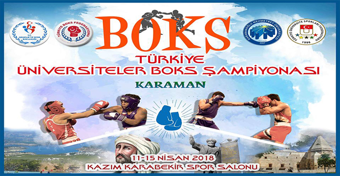 Üniversiteler Arası Boks Şampiyonası Karaman'da Yapılacak