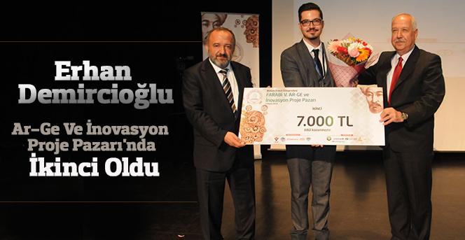 Erhan Demircioğlu'nun projesi  İkinci Oldu