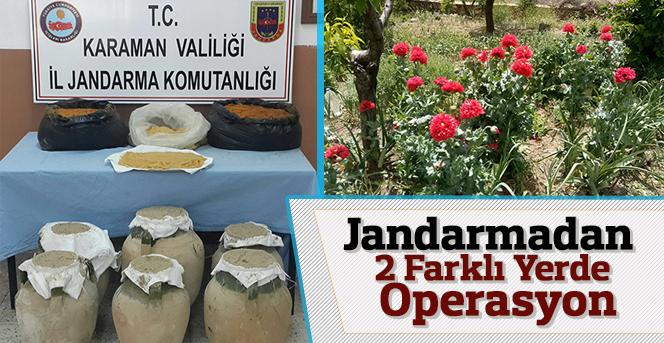Jandarmadan 2 Farklı Yerde Operasyon