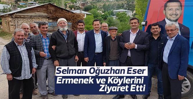 Selman Oğuzhan Eser Ermenek'te köylülerle bir araya geldi.