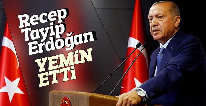 Recep Tayyip Erdoğan, Meclis'te başkanlık yemini etti