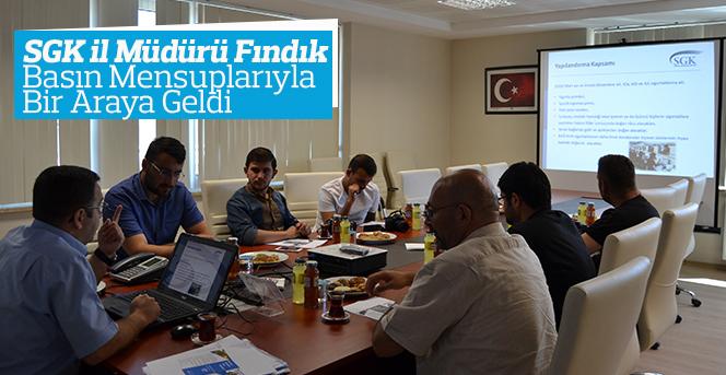 SGK İl Müdürü Fındık Basın Toplantısı Düzenledi