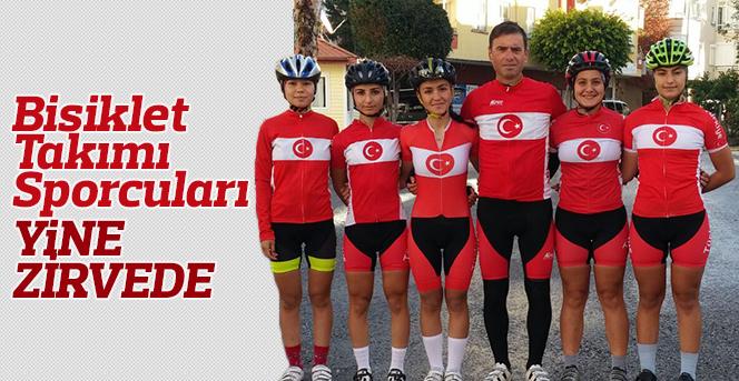 Karaman Bayan Bisiklet Takımı Sporcuları Yine Zirvede