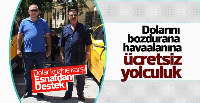 Taksi durağı esnaflarından Dolar krizine karşı destek