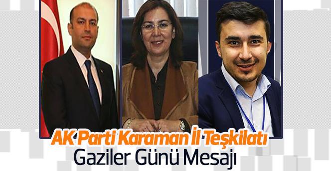 AK Parti Karaman İl Teşkilatı Gaziler Günü Mesajı