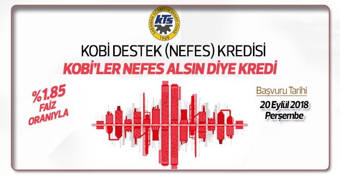 KOBİ Destek (Nefes) Kredisi için başvurular 20 Eylül'de başlıyor