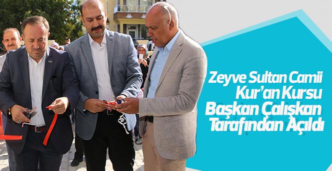 Zeyve Sultan Camii Kur'an Kursu Törenle Açıldı