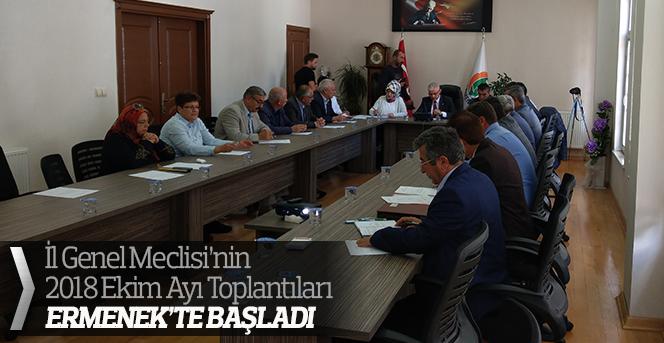 İl Genel Meclisinin Ekim Ay'ının ilk Toplantısı Ermenek'te Yapıldı