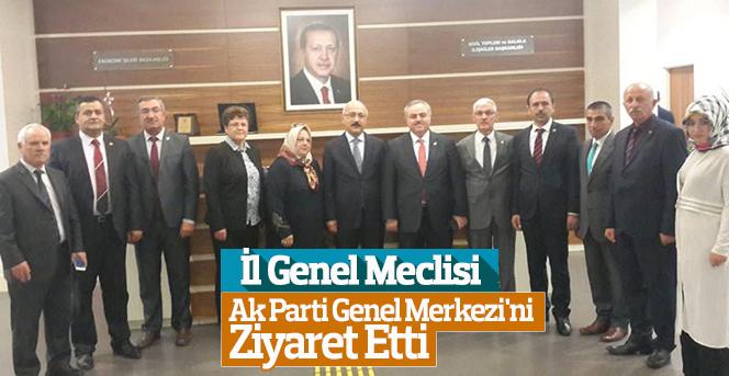 İl Genel Meclisi Ankara'da