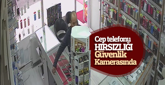 Karaman'da cep telefonu hırsızlığı güvenlik kamerasında