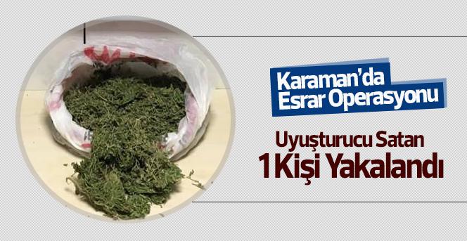 Karaman'da esrar operasyonu