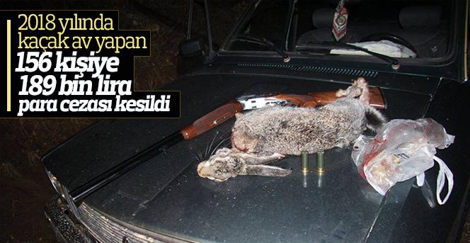 Karaman'da kaçak avlanan 156 kişiye 189 bin lira para cezası