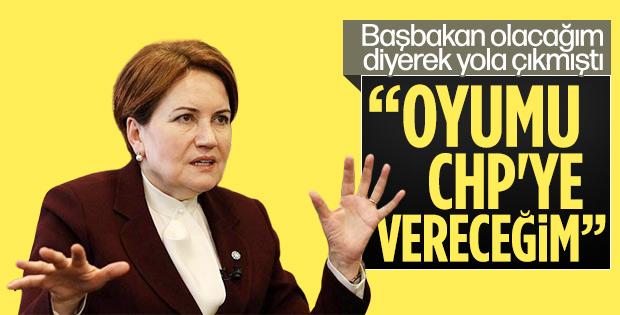 Meral Akşener belediye seçimlerinde CHP'ye oy atacak
