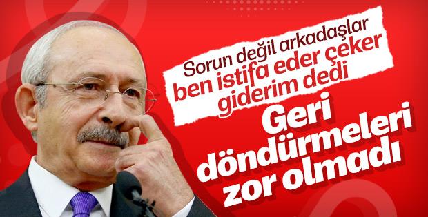 Kılıçdaroğlu'ndan istifa resti