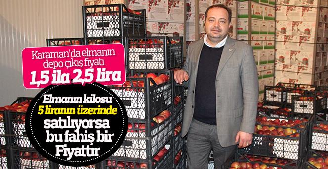 Elmanın kilosu 5 liranın üzerinde satılıyorsa bu fahiş bir fiyattır