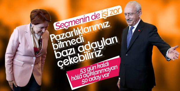 CHP ile İyi Parti bazı yerlerde adayları teke düşürecek