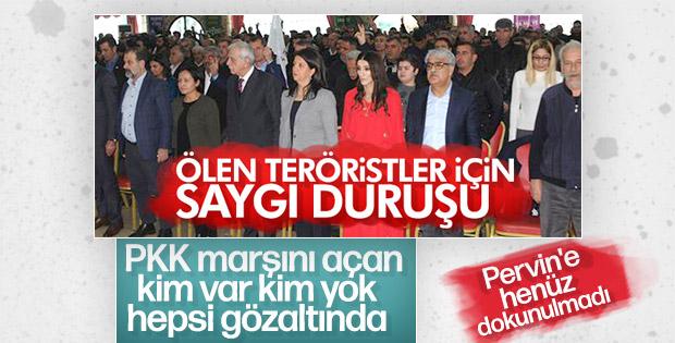 PKK marşı okuyan HDP'lilere operasyon