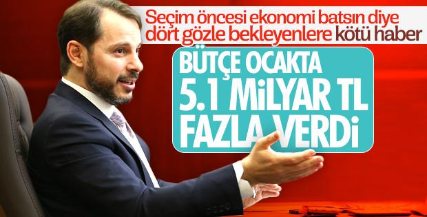 Bakan Albayrak: Bütçe ocak ayında 5.1 milyar fazla verdi