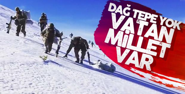 Kar kış demeden mücadele eden Mehmetçikler