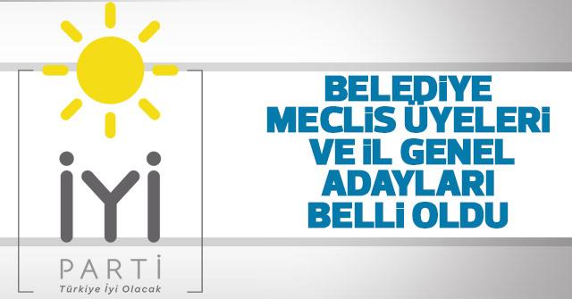 İYİ Parti Karaman Meclis Üyelerini açıkladı.