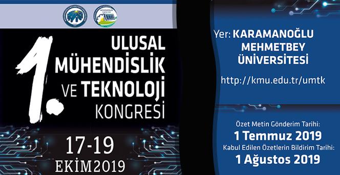 1. Ulusal Mühendislik Ve Teknoloji Kongresi Düzenlenecek