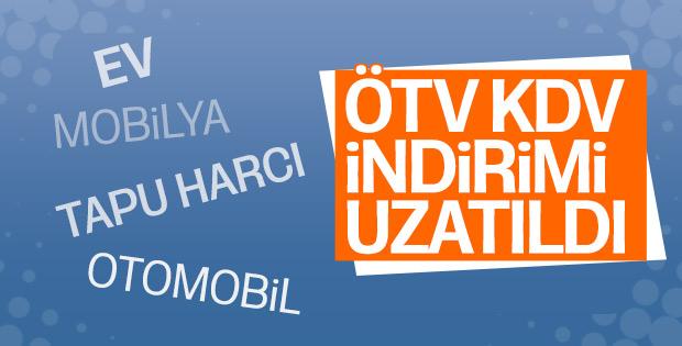 ÖTV ve KDV indirimleri yıl sonuna kadar uzatıldı