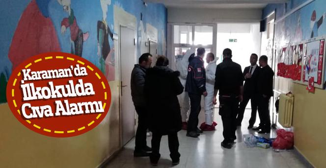 Karaman'da ilkokulda cıva alarmı