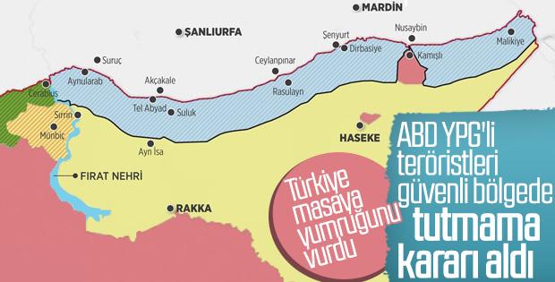 ABD'nin güvenli bölge planında YPG'ye yer yok