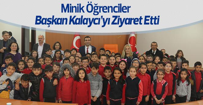 Minik Öğrencilerden Başkan Kalaycı'ya Ziyaret