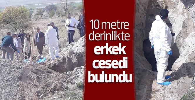 10 metre derinlikte erkek cesedi bulundu
