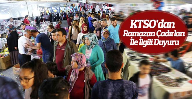 KTSO'dan  Ramazan Çadırları İle İlgili Duyuru