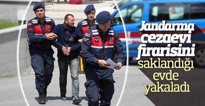 Jandarma, cezaevi firarisini saklandığı evde yakaladı