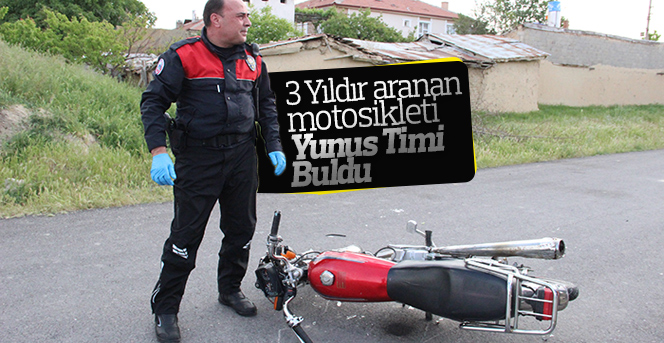 3 Yıldır aranan  motosikleti  Yunus Timi  Buldu