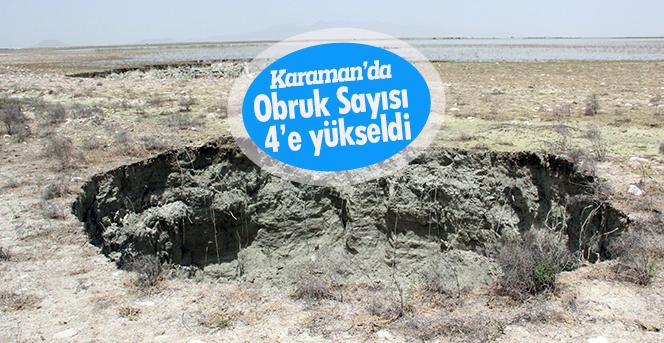 Karaman'da obruk sayısı 4'e yükseldi