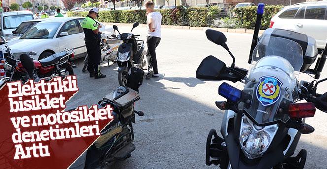 Elektrikli bisiklet ve motosikletlere yönelik denetimler arttırıldı