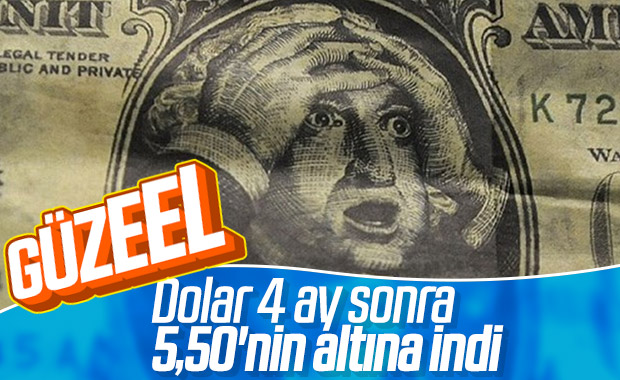 Dolar 5,50'nin altını test etti