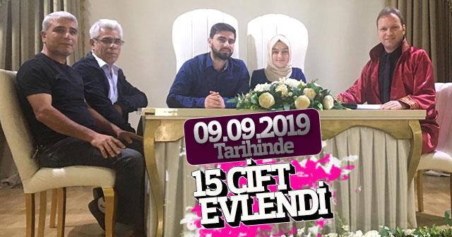 09.09.2019 Tarihinde 15çift Evlendi